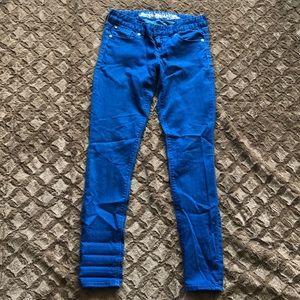 Blue express jean legging